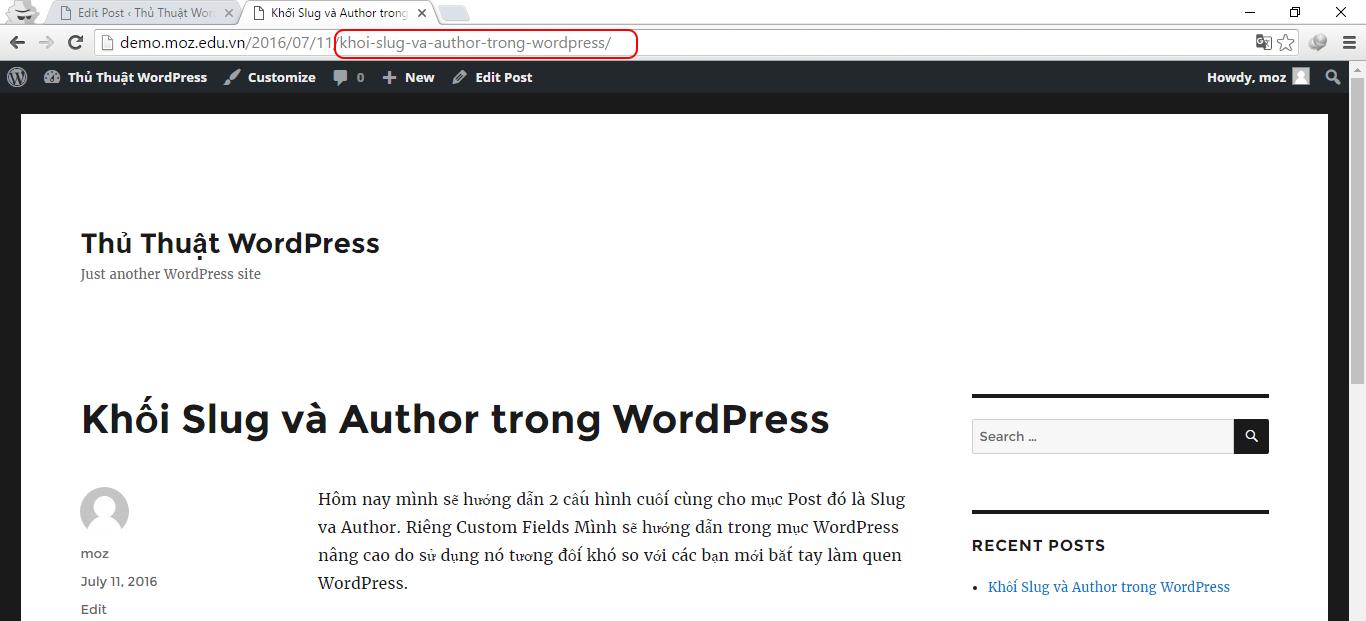 Slug WordPress trong seo? Bạn cần biết