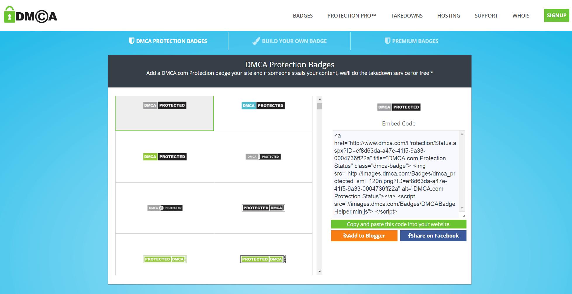 DMCA.com Website Protection Badges