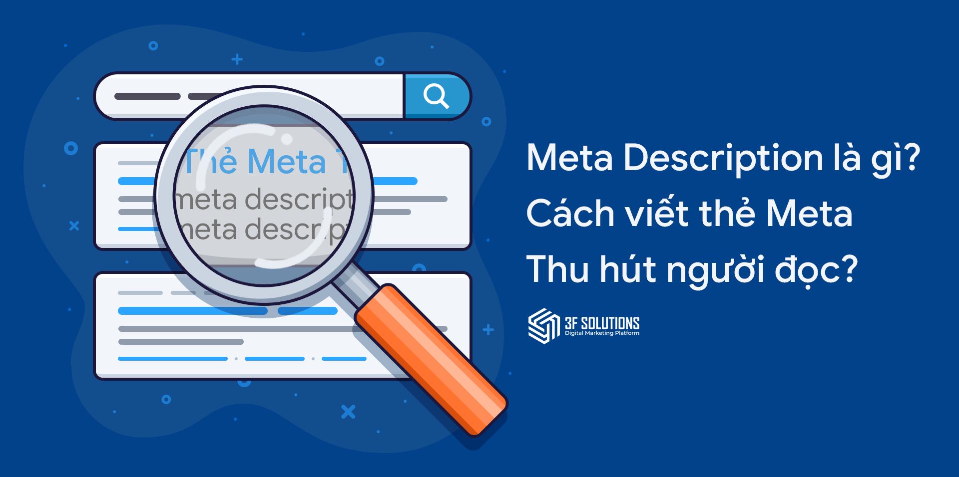 Meta Description là gì? Điều bạn cần biết